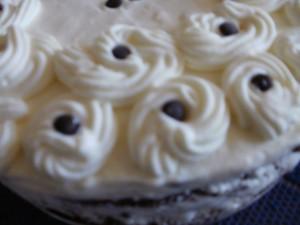tort czekoladowy z masą śmiet-jogurt