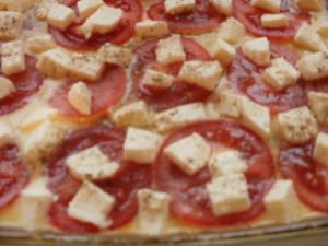zapiekanka z cukinii z pomidorami i mazzarellą