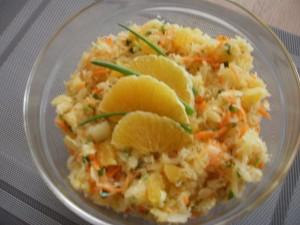 surówka z kapusty kiszonej z pomarańczą