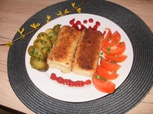 krokiety z mięsem drobiowym i żółtym serem