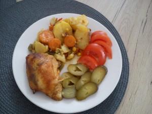 udka pieczone w warzywach