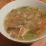 zupa flaczki z boczniaka