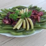 fasolka szparagowa z cebulą