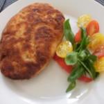 kieszonki drobiowe z pieczarkami papryką i pomidorem