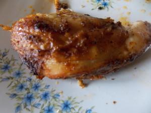 kurczak pieczony na soli w kawałkach