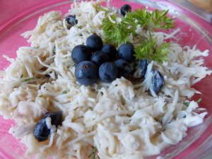 surówka z selera z winogronami