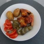 Skrzydełka miodowo-keczupowe