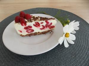 sernik na zimno czekoladowy z malinami (3)
