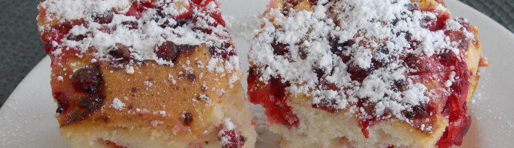 Ciasto Ucierane Z Kolorowa Porzeczka Na Oleju Almanka W Kuchni I